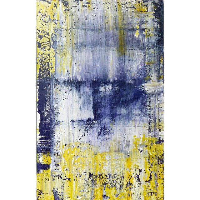 Blue Abstract Painting by the Brazilian Artist Claudio Cardoso For Sale - Image 8 of 8