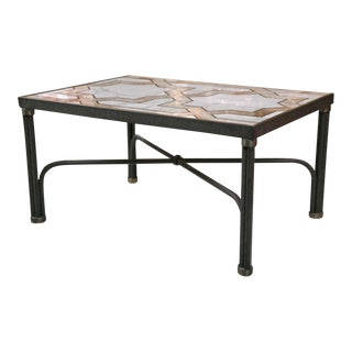1960s Inlaid Marble Coffee Table For Sale