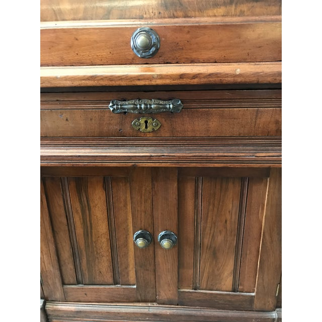 19th Century American Classical Cylinder Rolltop Secretary Desk For Sale - Image 10 of 13