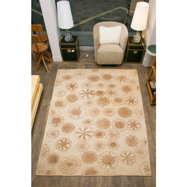 Rare and Decorative Cogolin Wool Carpet, France, 1970 For Sale - Image 11 of 11