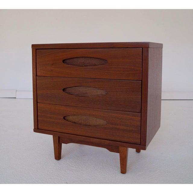 McCoy Furniture Mid-Century 3-Drawer Walnut Nightstand - Image 7 of 10