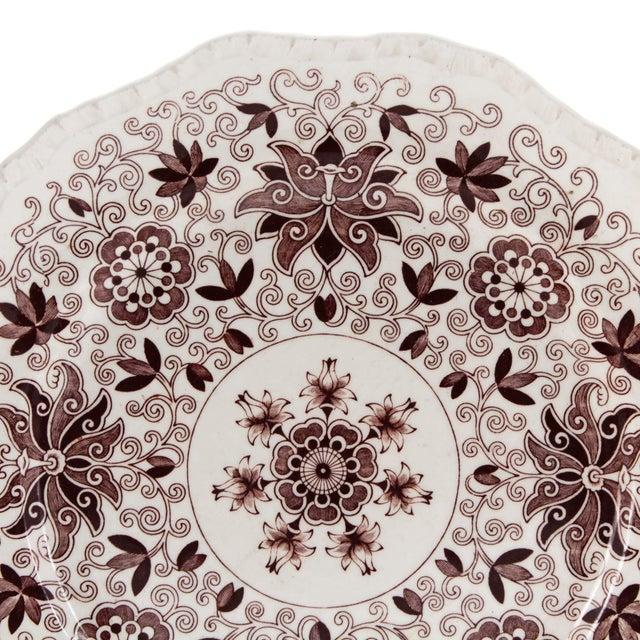 """Masons England Brown """"Bow Bells"""" Ironstone 11"""" Serving Plate. Mason's pottery is renowned for its use of 'ironstone' clay,..."""