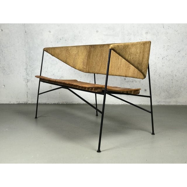 Modernist Settee by Arthur Umanoff for Shaver Howard & Raymor Loveseat Bench Sofa Couch For Sale - Image 12 of 13