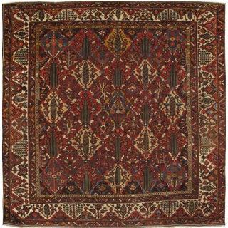"Pasargad NY Antique Persian Bakhtiari Hand-Knotted Rug - 11'3"" x 11'4"""