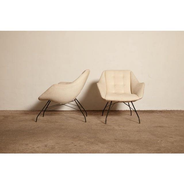 Mid-Century Modern 1950s Vintage Forma Brazil Carlo Hauner and Martin Eisler Shell 'Concha' Lounge Chairs - a Pair For Sale - Image 3 of 13