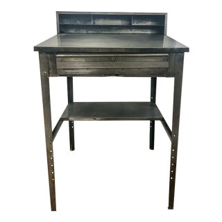 1970s Industrial Metal Shipping and Receiving Desk For Sale