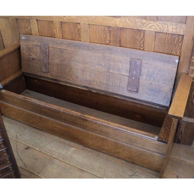 Vintage Sawn Oak Bench - Image 11 of 11