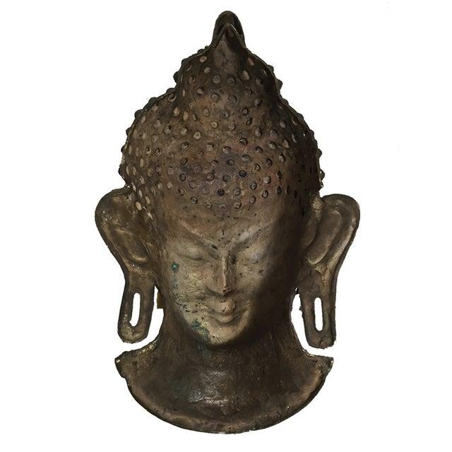 Vintage Brass Head Buddha - Image 7 of 7