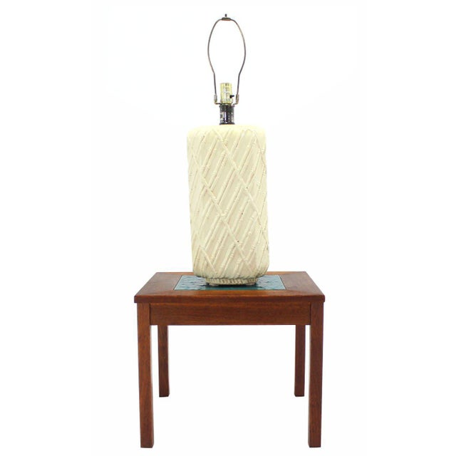 Faux Bamboo Decorated Pattern Table Lamp For Sale - Image 4 of 9