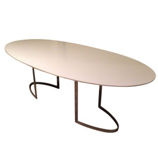 Designer Oval Conference or Dining Table For Sale