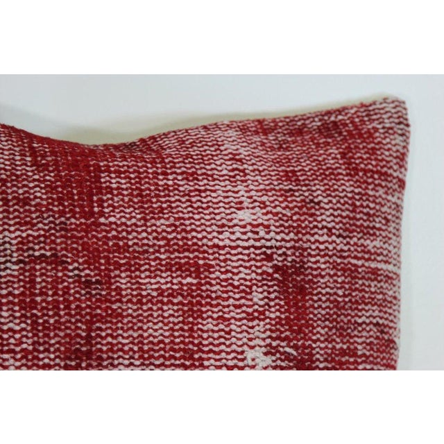 Red Over-Dyed Rug Pillow Covers - A Pair - Image 4 of 7