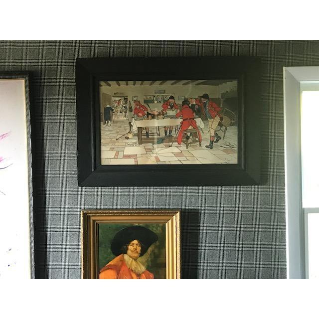 Cabin Cecil Aldin Hunt Print in Wood Frame For Sale - Image 3 of 8
