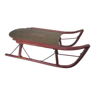 Antique American Childs Snow Sled For Sale