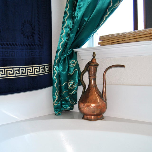 Metal 19th Century Ottoman Persian Islamic Tinned Copper Ewer/Washing Pitcher For Sale - Image 7 of 8
