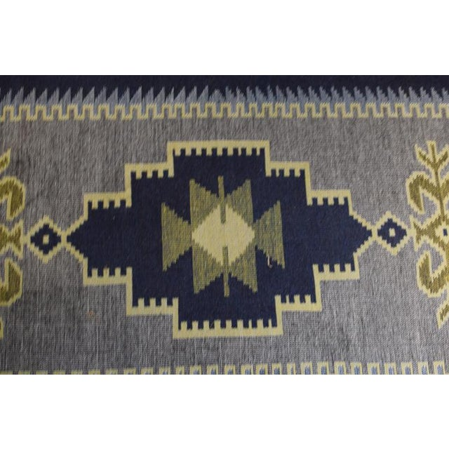 Mid 20th Century Handmade Vintage Kilim Rug - 4′4″ × 2′6″ For Sale - Image 5 of 13