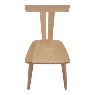 Modernistic Double-T-Back Side Chair For Sale
