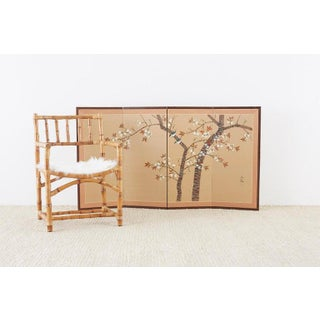 Japanese Four-Panel Screen Spring Cherry Blossom Tree Preview