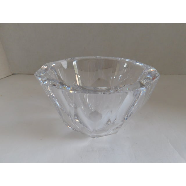 Orrefors Sweden Small Cut Crystal Bowl For Sale - Image 9 of 12