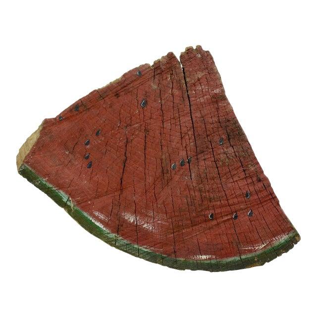 Folk Art Painted Watermelon Sculpture For Sale