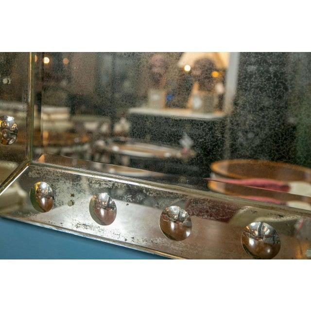 Bullseye Antiqued Framed Venetian Mirrors - Pair - Image 6 of 6