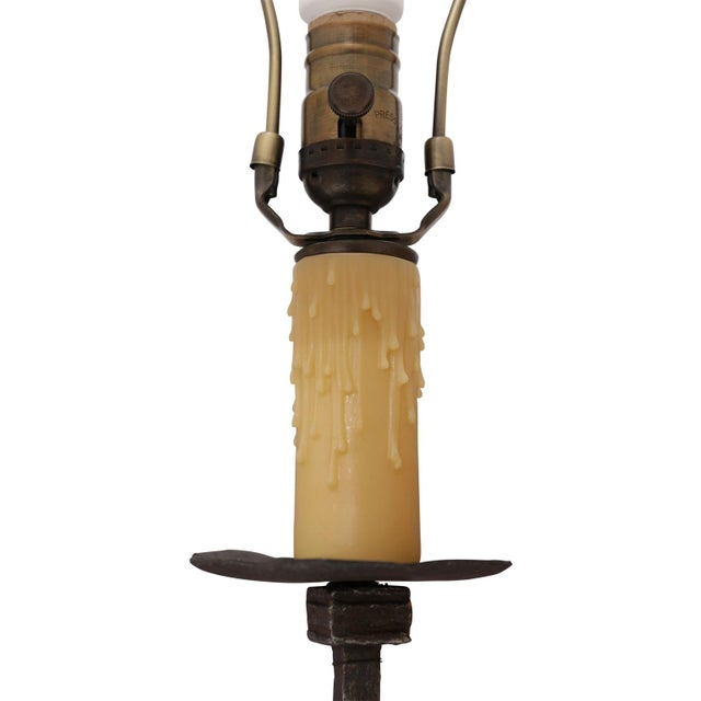 Late 19th Century Two Custom Iron Floor Lamps For Sale - Image 5 of 11