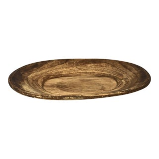 Rustic Hand Carved Wooden Bowl For Sale