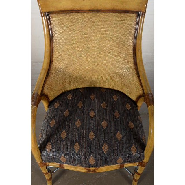 Hollywood Regency McGuire Style Chairs - Set of 6 - Image 8 of 10