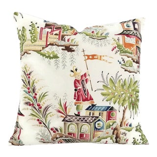 Clarence House Zang Toile Pillow Cover For Sale