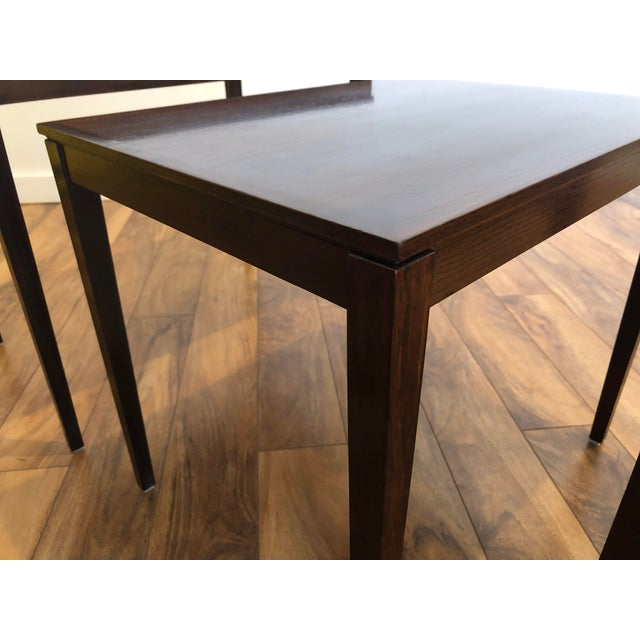 Brown Bent Silberg Rosewood Nesting Tables For Sale - Image 8 of 11