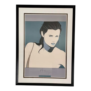 "46"" Gigantic 1987 Patrick Nagel Framed Commemorative #14 Framed Lithograph Print For Sale"