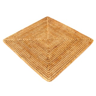 """Artifacts Rattan Square Placemat 15""""x15"""" For Sale"""