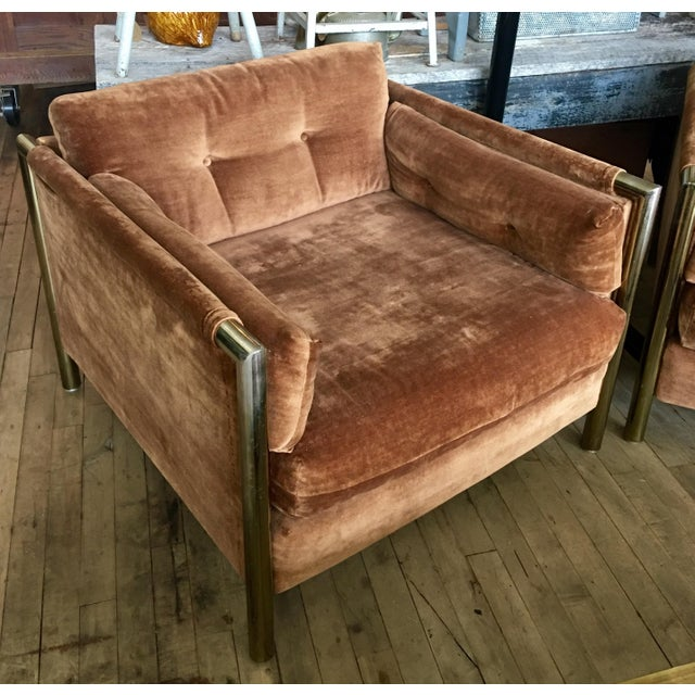 Milo Baughman-Style Brown Club Chairs - A Pair - Image 3 of 10