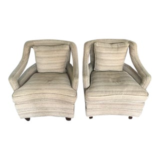Custom Hollywood Regency Style Chairs - a Pair For Sale