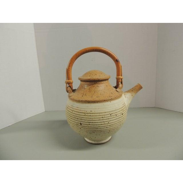 Vintage Art Pottery Ceramic Teapot - Image 2 of 4