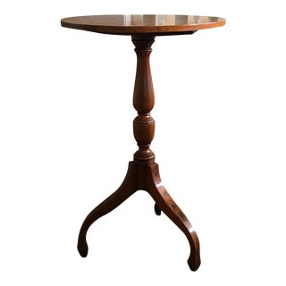 Cherry Wood Pedestal Table