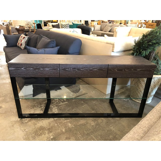 Glass Contemporary Furnitech Signature Home Console Table For Sale - Image 7 of 7