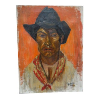 Margaret Weihmann Mexican Cowboy With Red Scarf Painting