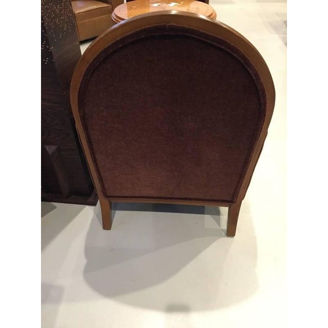 French Art Deco Club Chairs Carved Front Legs - A Pair For Sale - Image 9 of 9