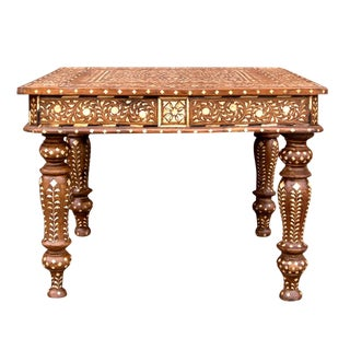 Petite Marigold Inlaid Side Table For Sale
