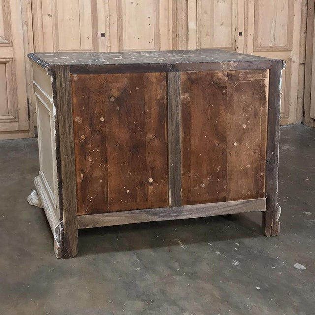 Neoclassical 19th Century Italian Neoclassical Painted Commode For Sale - Image 3 of 12