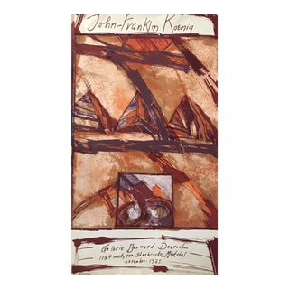 1975 Original Exposition Poster, John-Franklin Koeniq - Galerie Bernard Desroches For Sale
