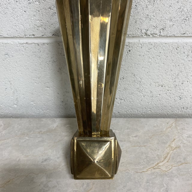 Brass Art Deco Vase For Sale In Richmond - Image 6 of 12