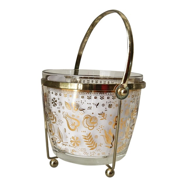 Georges Briard Glass 24K Gold Ice Bucket - Image 1 of 7