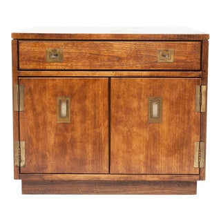 1970s Stanley Campaign Style Large Cabinet / Coffee Table