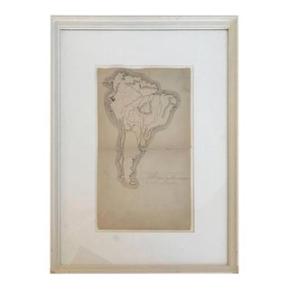 19th Century Schoolboy Maps of South America For Sale