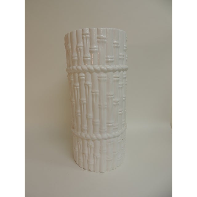 Vintage Faux Bamboo Ceramic Umbrella Stand - Image 2 of 4