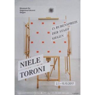 Niele Toroni 2017 Exhibition Poster for Museum Für Gegenwartskunst Siegen For Sale