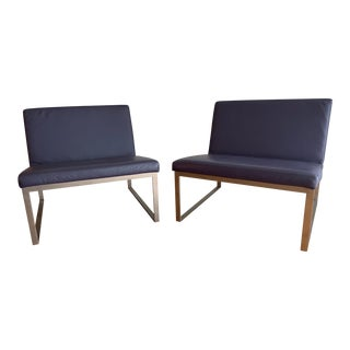 Leather Bernhardt B.2. Lounge Chairs - A Pair For Sale