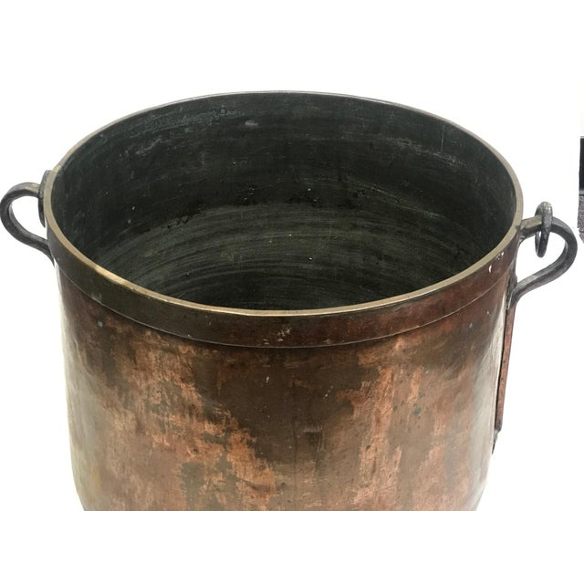 French Rustic Copper Pot For Sale - Image 10 of 11
