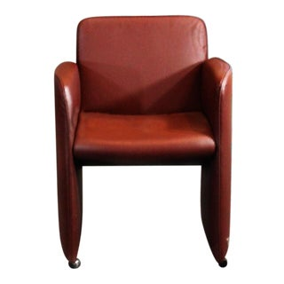 Last Call Calia Italy Postmodern Tobacco Rose Club Chair
